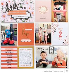 """Use stamps from the SC """"fill in"""" set to create list style journaling Happy Love, Happy New, Pocket Scrapbooking, Digital Scrapbooking, Create List, Studio Calico, Better Together, Journal Prompts, Making Memories"""