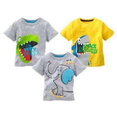 Cartoon-Animal-Print-Baby-Kids-Boys-Cotton-Tops-T-shirt-Age-1-6-Years **************************************** eBay: חולצת טי בעיצובים מתוקים מ-16 ₪ + משלוח חינם! עד גיל 6