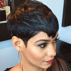 Flawless pixie via @patricehector - https://blackhairinformation.com/hairstyle-gallery/flawless-pixie-via-patricehector/