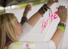 Wendy Stouffer, Mother of Kortne Stouffer, signing a memorial at the vigil.  Friends and family of Kortne Stouffer, who disappeared two years ago in early morning hours of July 29, 2012, held a vigil at the Campbelltown Fire Company from 7-9 p.m. on Tuesday, July 29 2014.  Daniel Zampogna, PennLive