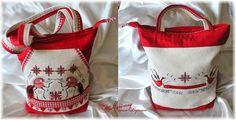 """Сделано руками и... головой:): Летняя сумка-торбочка """"МезЕнская роспись"""""""