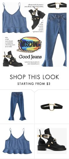 """Good Jeans"" by novalikarida ❤ liked on Polyvore featuring Balenciaga and Moschino"
