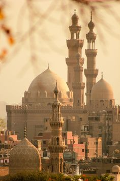 Old Cairo Trips Packages; Minarets of Sultan Hassan Mosque in Old Cairo, Egypt. Places Around The World, Oh The Places You'll Go, Travel Around The World, Places To Travel, Places To Visit, Around The Worlds, Wonderful Places, Beautiful Places, Beautiful Mosques