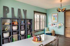 Extra large wooden letters play room ideas 어린이방, 인테리어, 아이 방 Office Playroom, Playroom Decor, Playroom Ideas, Playroom Paint Colors, Playroom Organization, Garage Playroom, Modern Playroom, Baby Playroom, Organization Ideas