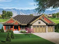 One Level Living - 89793AH | Craftsman, Northwest, Ranch, 1st Floor Master Suite, CAD Available, PDF, Split Bedrooms | Architectural Designs