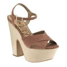 SALE - Womens Sam Edelman Corbin Platform Heels Brown Leather - Was $150.00 - SAVE $90.00. BUY Now - ONLY $59.97.