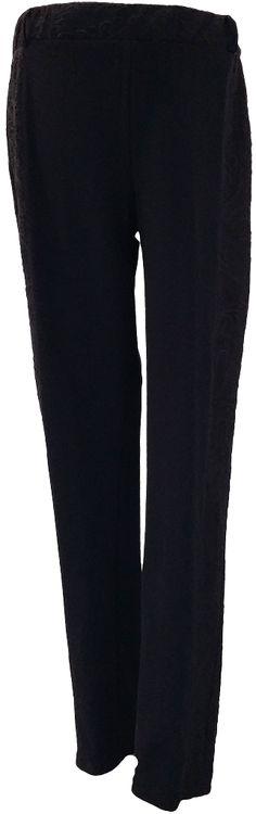 Legging banda lateral, de punto grueso y detalles en relieve.