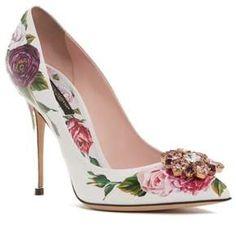 Dolce & Gabbana Crystal Embellished Floral Pump