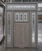 Craftsman Exterior Door with Grey Stain