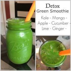 New Nostalgia: Detox Green Smoothie - So Fresh & Clean Tasting! #greensmoothie #detox #kale