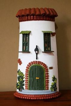 Diy Crafts Slime, Tile Crafts, Craft Stick Crafts, Diy And Crafts, Handmade Crafts, Pottery Houses, Ceramic Houses, Clay Wall Art, Clay Art