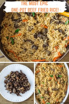 The Best Beef Fried Rice recipe which my whole family loves! The BEST Beef Fried Rice Recipe which you need to have on rotation. All made in one pot and perfect for weekdays and special days. Fried Rice Seasoning, Beef Fried Rice, Beef And Rice, Rice Recipes, Side Dish Recipes, Delicious Recipes, Easy Recipes, Carrots And Green Beans, International Recipes