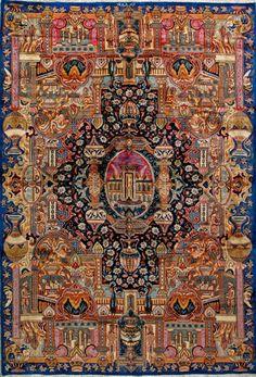 "Kashmar Persian Rug, Buy Handmade Kashmar Persian Rug 6' 5"" x 9' 6"", Authentic…"