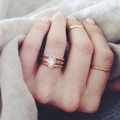 .@witanddelight_ (Kate Arends)   her Anna Sheffield engagement ring is so good