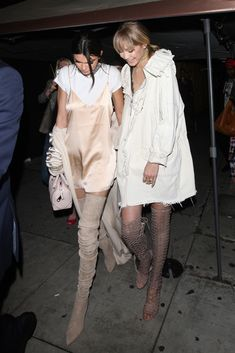 Kendall Jenner and Gigi Hadid MTV Movie Awards After Party -     Kendall Rocking the Balmain Boots she recently wore in the 2016 Balmain Fashion Show and Gigi Rocking Schutz  Caged Sandals.