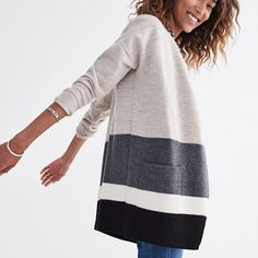A cozy cardigan that's as toasty as a jacket. Made of smooth, soft boiled wool…