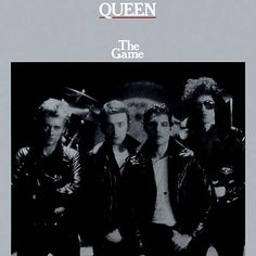 Queen - The Game album cover The Game: The four of them, all badass, tough as leather. In front of a drum riser. They're just as rock as you can get, aren't they? Funny they're about to abandon that genre. Queen Album Covers, 80s Album Covers, Classic Album Covers, The Game Albums, Great Albums, Music Albums, John Wetton, King Crimson, Freddie Mercury