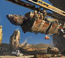 Stunning Sci-Fi Artwork 'Freighter' by Yuriy Mazurkin