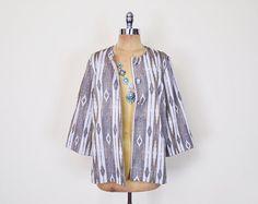 #Vintage #70s Beige #Southwestern #Jacket Blouse Top #Southwest Jacket #Tribal Jacket Tribal Print Jacket 3/4 Sleeve 70s #Boho Jacket M Medium #Etsy #EtsyVintage #TrashyVintage @Etsy $38.00
