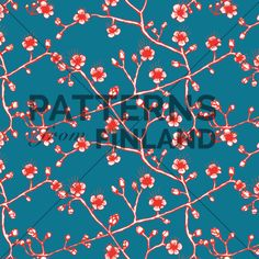Uni – Kirsia by Ilana Vähätupa   #patternsfromagency #patternsfromfinland #pattern #patterndesign #surfacedesign #ilanavahatupa