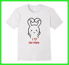Mens I Love My Papa Happy Father's Day Tshirt Bunny Cute Tshirt Small White - Holiday and seasonal shirts (*Amazon Partner-Link)