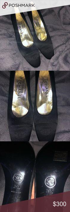 d45bcb2acb54 Chanel satin heels Vintage chanel satin heels