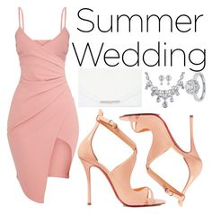 """Say I Do: Summer weddings"" by a-hidden-secret ❤ liked on Polyvore featuring Christian Louboutin, Khirma Eliazov and Zac Posen"