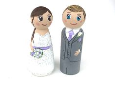 Wedding Cake Topper Custom Cake Topper Painted Cake by Quinnipeg, $59.00
