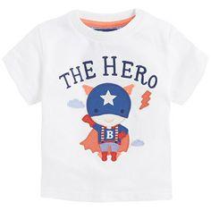Colección Baby. Camiseta con aplique y manga corta.