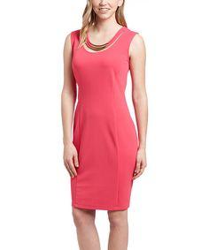 Look what I found on #zulily! Fuchsia Sheath Dress - Women & Plus #zulilyfinds