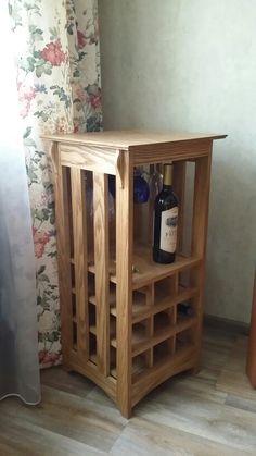Винный шкаф ясень тонированный