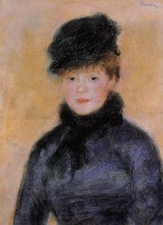 Woman with a Blue Blouse -  Pierre Auguste Renoir - circa 1882-1883