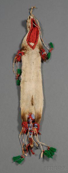"""Сумка для трубки Лакота, 19 век. """"Animal Skin"""""""