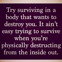 With #hashimotos and #hypothyroidism you're trying to survive in a body that wants to destroy you. It's aren't easy! An ultimate goal of any #thyroid treatment is to become... https://www.instagram.com/p/BPYNh-GDcfM #Dietandhypothyroidism