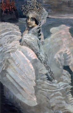 Famous Swan Painting | Oil Paintings - Art Collections - Famous Russian Paintings - The Swan ...