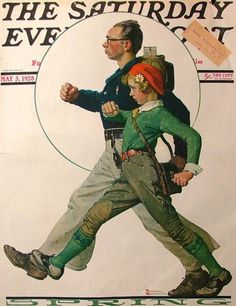 "May 5, 1928 - 'The Saturday Evening Post' - ""Spring"" by Norman Rockwell (1874-1978, American)"