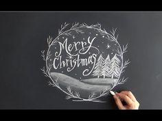 クリスマスに大人黒板「チョークアートの描き方」(chalkart:chalklettering)