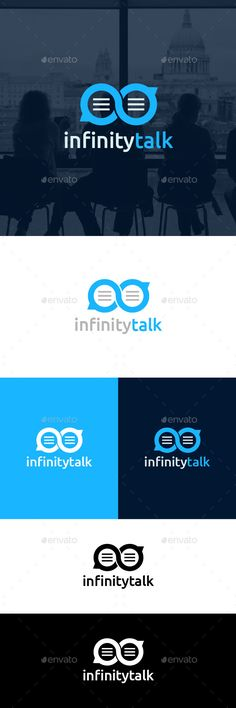 Infinity Talk - Logo Design Template Vector #logotype Download it here: http://graphicriver.net/item/infinity-talk-logo-template/4066242?s_rank=1013?ref=nexion