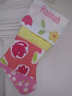 Happy Birthday Stockings!  I LOVE this idea!  Make a stocking for each of your kids using meaningful pieces of fabric...their old blankets, special dress, etc.   Hang this up on their birthday with little treats inside!