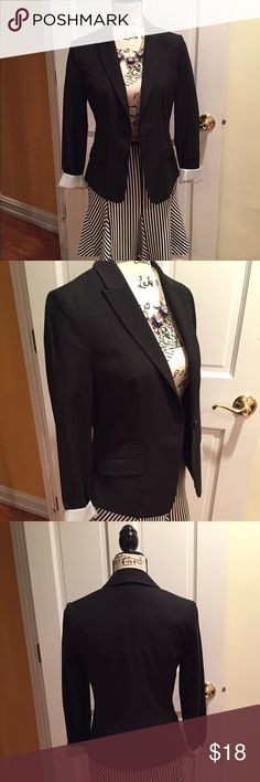 Classic black blazer! Fully lined and fitted. Materials are polyester, wool and viscose. H&M Jackets & Coats Blazers