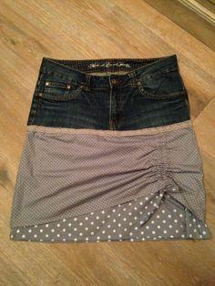 Rock aus alter jeanshose nähen