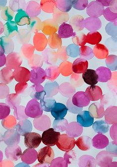 Would be a great DIY card image. Using watercolour paint, drop big dots of colour overlapping onto watercolour paper.