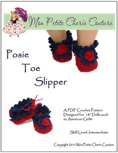 POSIE TOE SLIPPERS CROCHET PATTERN