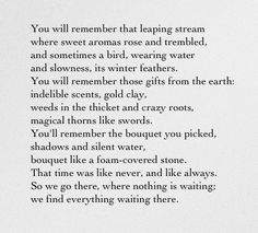 "Pablo Neruda, ""You Will Remember"""