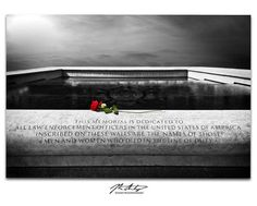 Artist's photographic rendering of the National Police Memorial in Washington D.C.