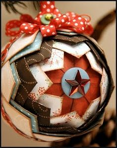 paper quilted ornament - no directions but link to Boo-Bunny website - scrappin ideas