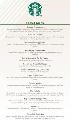 "Starbucks ""secret"" menu"