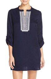 Mott 50 Embroidered Tunic Cover-Up (UPF 50)