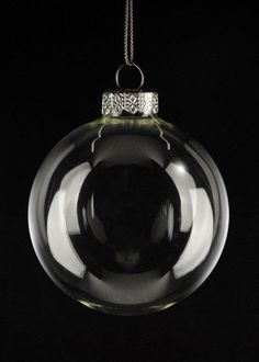 Glass bulbs for DIY Christmas ornaments. Great for the grad tassel ornament craft.