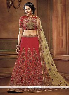 Divine Art Silk Resham Work Lehenga Choli Model: YOLEN4039